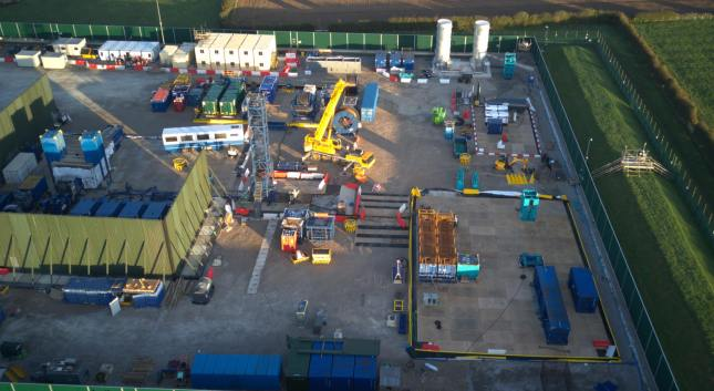 Drone footage of Cuadrilla's shale gas site at Preston New Road near Blackpool, 29 September 2018. Photo used with the owner's consent