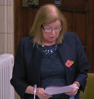 Dr Roberta Blackman-Woods MP, 31 October 2018. Photo: Parliamentlive.tv