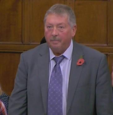 Sammy Wilson MP, 31 October 2018. Photo: Parliamentlive.tv