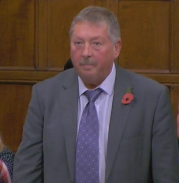 Sammy Wilson MP, 31 October 2018. Photo: Parliamentlive.tv