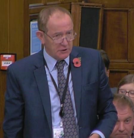 Sir Kevin Barron MP, 31 October 2018. Photo: Parliamentlive.tv
