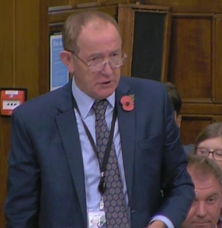 Sir Kevin Barron MP, 31 October 2018. Photo: Parliamentlive.tv