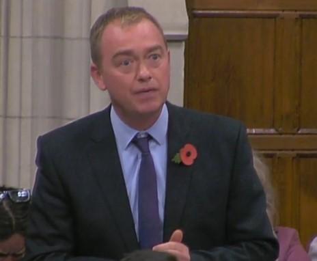 Tim Farron MP, 31 October 2018. Photo: Parliamentlive.tv