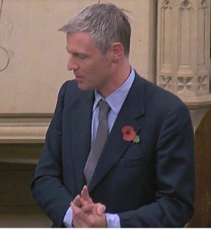 Zac Goldsmith MP, 31 October 2018. Photo: Parliamentlive.tv