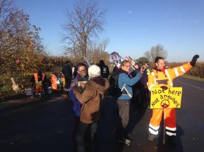 Tinker Lane, north Nottinghamshire, 12 November 2018. Photo: Frack Free Tinker Lane