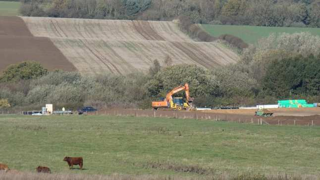 Egdon Resources site at Biscathorpe in Lincolnshire, 31 October 2018. Photo: Eric Walton