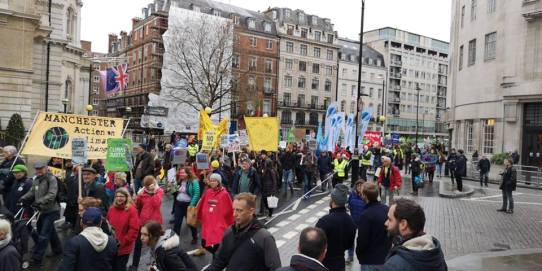 Climate march from the Polish embassy to Downing Street, 1 December 2018. Photo: Frack Free United