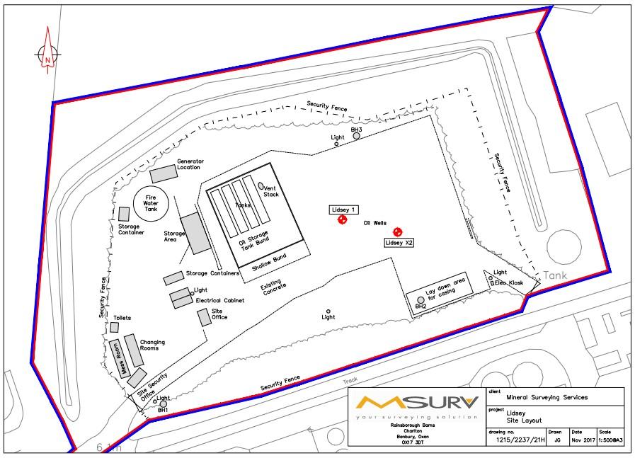 Lidsey site plan