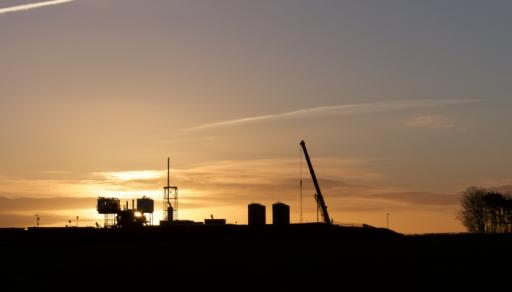 IGas shale gas site at Tinker Lane, Nottinghamshire, 2 January 2019. Photo: TinkerLane.co.uk
