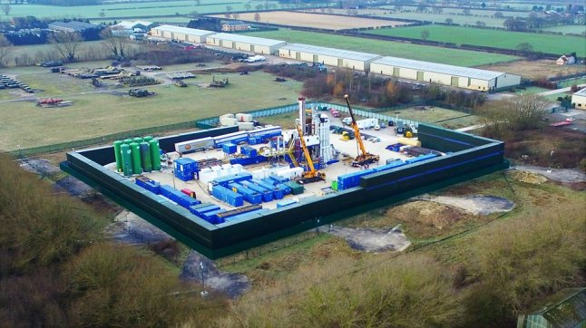 IGas shale gas exploration site at Misson Springs, Nottinghamshire, 18 January 2019. Photo: Eric Walton