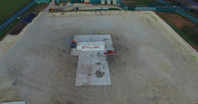 IGas shale gas exploration site at Tinker Lane, Nottinghamshire, 18 January 2019. Photo: Eric Walton