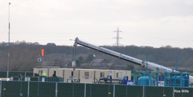 Removal of fracking equipment from Preston New Road, 2 January 2019. Photo: Ros Wills