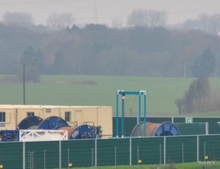 Demobilisation of fracking equipment at Cuadrilla's Preston New Road shale gas site near Blackpool, 4 January 2019. Photo: Ros Wills
