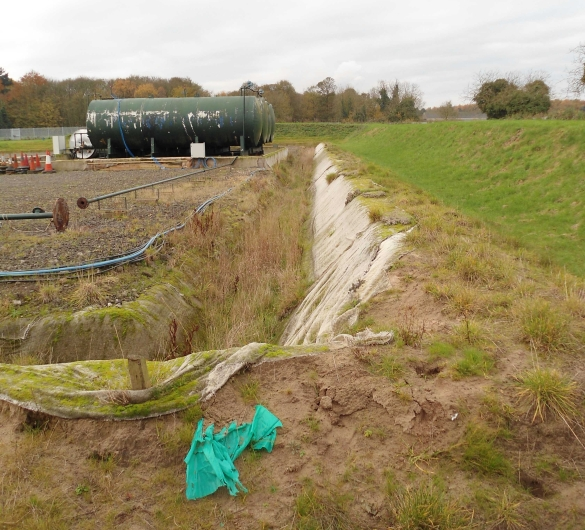Wressle wellsite, site visit during inquiry, November 2017. Used with the owner's consent