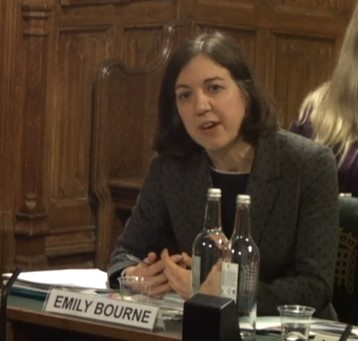Emily Bourne giving evidence to the Public Accounts Committee, 11 February 2019. Photo: Parliament TV