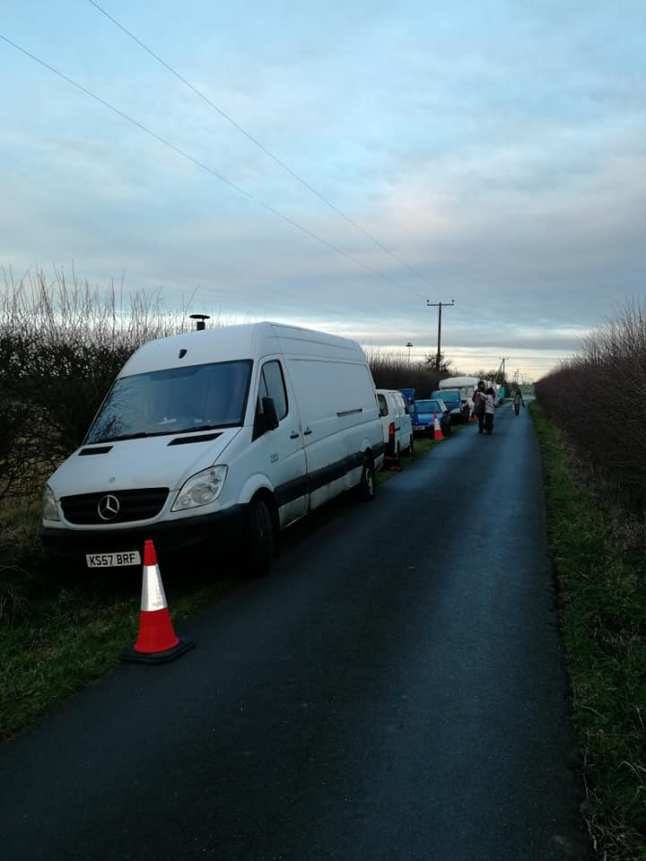 West Newton Monitoring and Information Station relocated to Fosham Lane, 21 February 2019. Photo: West Newton Gateway to the Gasfields