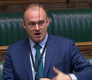 190328 Sir Ed Davey Parliament tv2