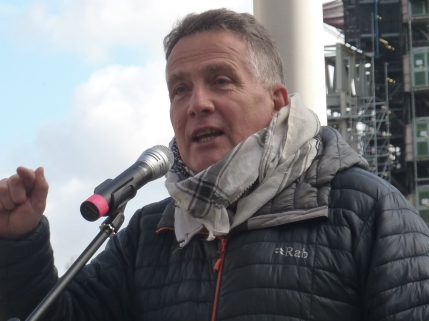 James Eaden at Westminster rally, 5 March 2019. Photo: DrillOrDrop
