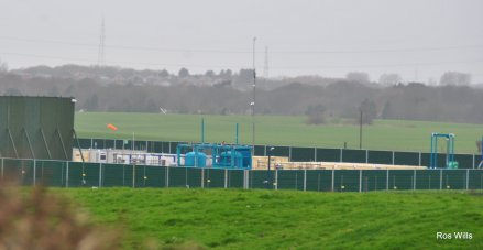 Cuadrilla's Preston New Road site, 8 March 2019. Photo: Ros Wills