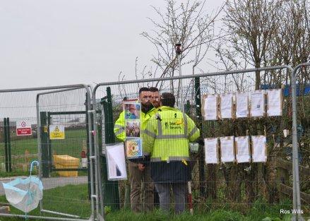 Cuadrilla's Preston New Road site, 8 March 2019. Photo: Ros Wills