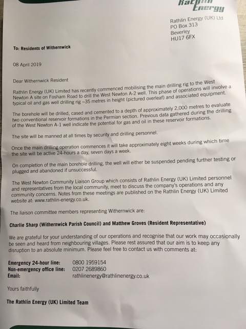 190408 Rathlin Energy to West Newton residents