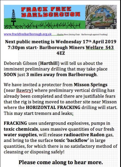 190417 Frack Free Barlborough