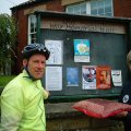 A ceremonial pinning of the final poster in Old Malton