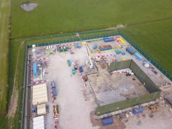Drone footage of Cuadrilla's Preston New Road fracking site, 17 April 2019. Photo used with owner's consent