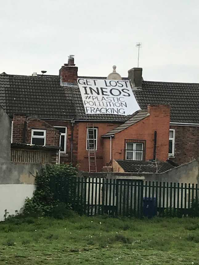Banner in Doncaster, 2 May 2019. Photo: Richard Needham