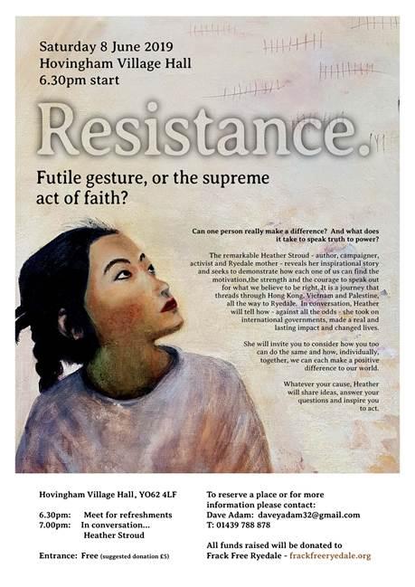 190608 Resistance futile gesture or