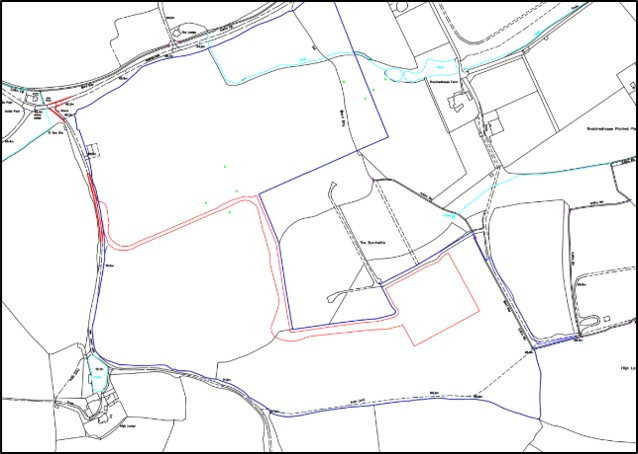 Dunsfold proposed access track. Source: UKOG planning application - map by Zetland Group