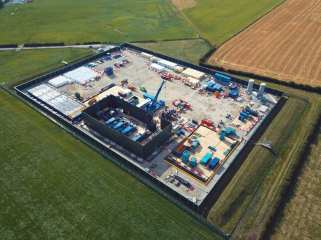 Cuadrilla's shale gas site at Preston New Road, 26 July 2019. Photo: Maxine Gill