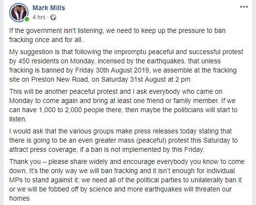 190828 Mark Mills Facebook post