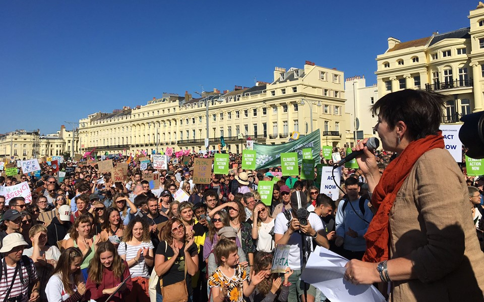190920 climate strike Brighton Office of Caroline Lucas