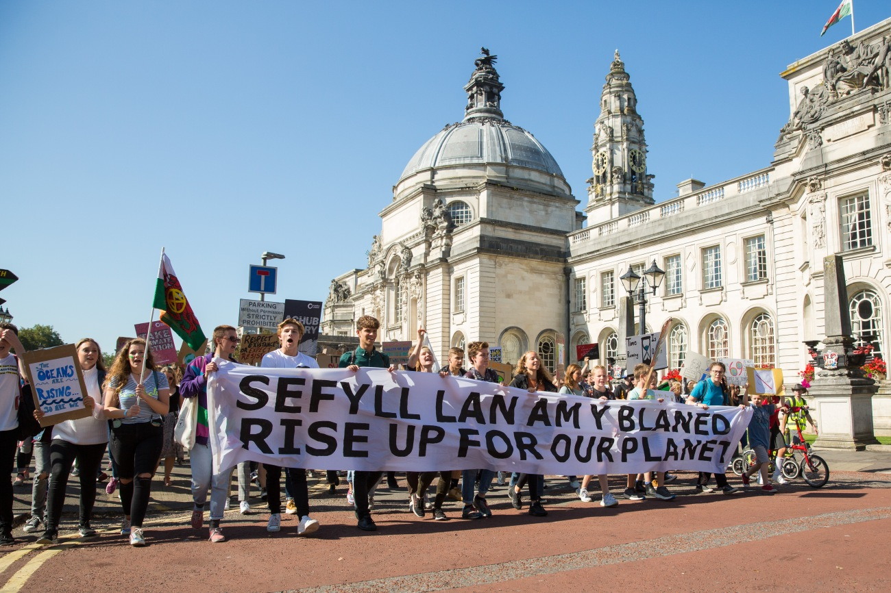 Global Climate strike Cardiff, 20th Septmeber 2019