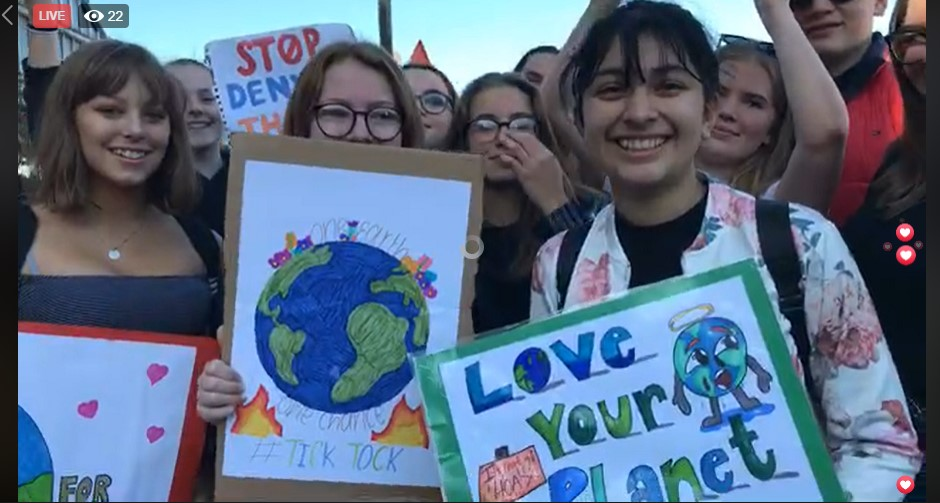 190920 climate strike Preston still from video by Tina Rothery