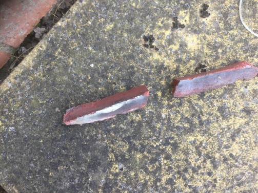 Cracked and dislodged mortar attributed by householder to tremors caused by fracking at Cuadrilla's Preston New Road site in August 2019. Photo: used with the owner's consent
