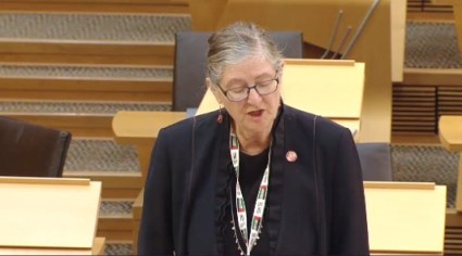 Claudia Beamish MSP, 3 October 2019. Photo: Scottish Parliament TV
