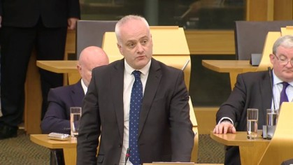 Mark Ruskell MSP, 3 October 2019. Photo: Scottish Parliament TV