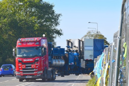 Equipment demobilised from Cuadrilla's Preston New Road shale gas site, 2 October 2019. Photo: Ros Wills