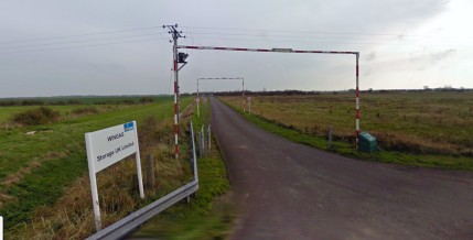 Entrance to Saltfleetby gas site (November 2010) (c) 2019 Google street view