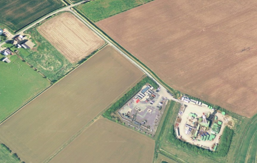 Saltfleetby gas site Image: Google Earth Imagery (c)2019 Infoterra Ltd & Bluesky, Imagery (c)2019 CNES/Airbus, Getmapping plc, Infoterra Ltd & Bluesky, Maxar Technologies, Map data (c)2019