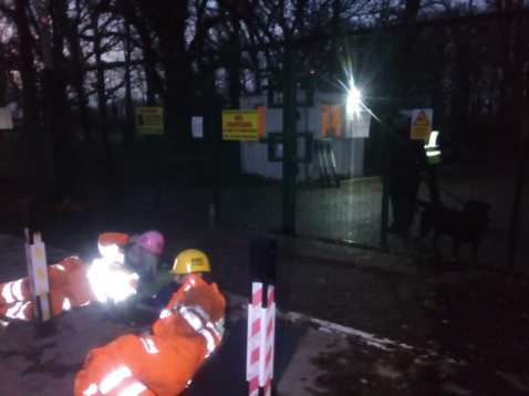 Lock-on protest outside Horse Hill oil site in Surrey, 10 December 2019. Photo: Extinction Rebellion