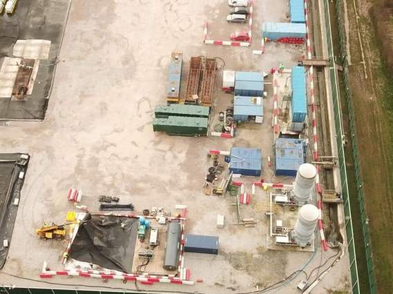 Cuadrilla's shale gas site at Preston New Road near Blackpool, 9 January 2020. Photo: Maxine Gill