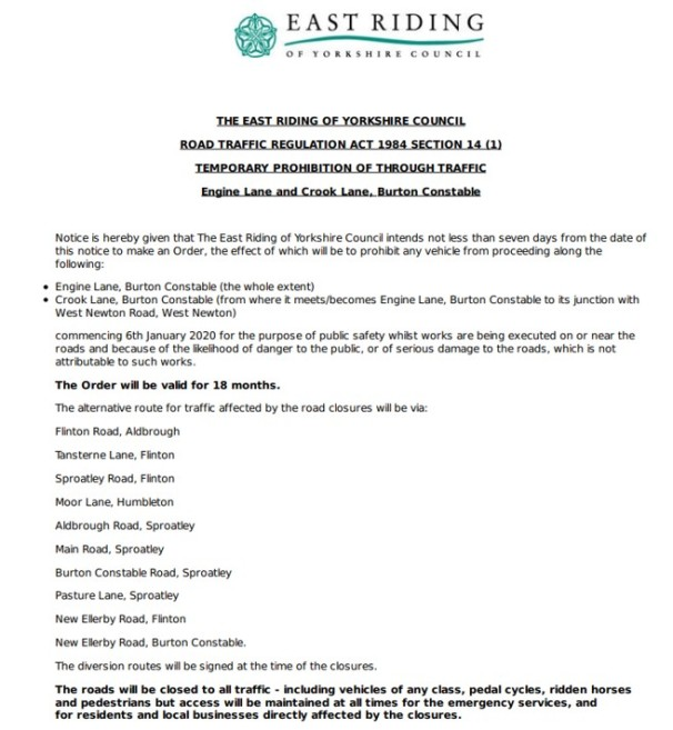 200115 WN road closures order1