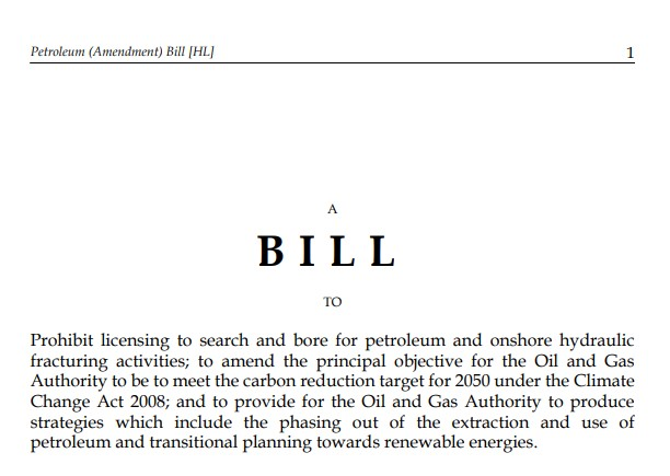 Petroleum amendment bill extract