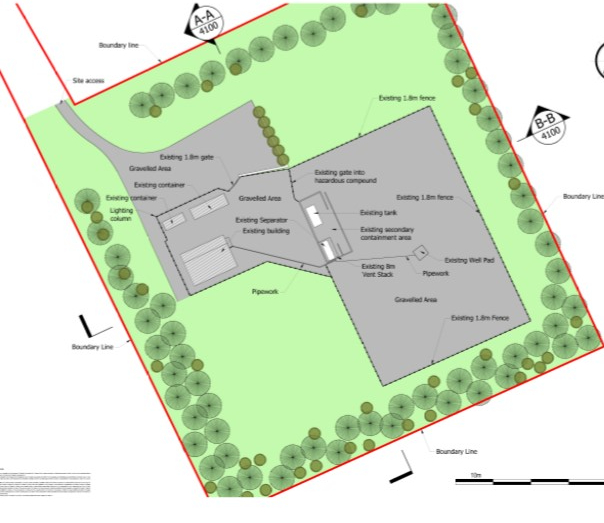 Existing Elswick site plan. Source: Cuadrilla Resources