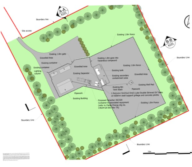 Proposed Elswick site plan. Source: Cuadrilla Resources