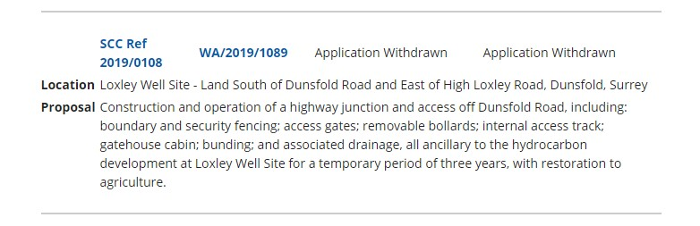 Revised application withdrawn