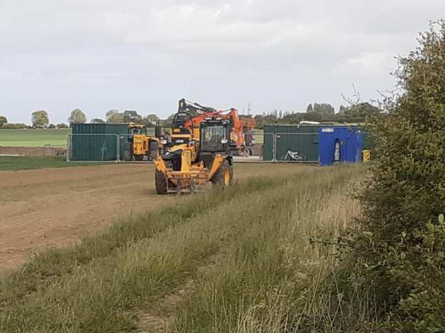 West Newton B exploration site, East Yorkshire, 25 May 2020. Used with the owner's consent